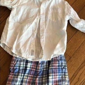 Shorts + shirt